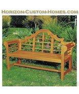 Teak Wood Hardwood Patio Outdoor Garden Lutyens Bench - $349.00