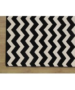 Hand Tufted Chevron Zig Zag Black 4' x 6' Conte... - $169.15