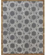Arabesque Scroll Gray 9' x 12'  Handmade 100% W... - $551.65
