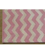 Hand Tufted Chevron Zig Zag Pink 4' x 6' Contem... - $169.15