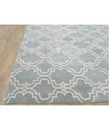Trellis Scroll Tile Porcelain Blue 8' x 8' Hand... - $373.32