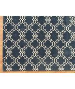 Moroccan Scroll Tile Carbon Blue 9' x 12' Handm... - $769.00