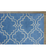 FRENCH ACCENT SCROLL TILE LIGHT BLUE 9X12 HANDM... - $551.65