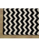 Large Hand tufted Chevron Black and White 9' x ... - $769.00