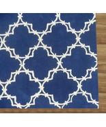Hand Tufted Trellis Blue 9' x 12' Contemporary ... - $769.00