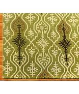 IKAT LINKS GREEN 8' x 10' HANDMADE PERSIAN STYL... - $381.65