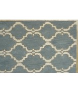 FRENCH  ACCENT SCROLL TILE GRAY 8'x10' HANDMADE... - $509.00