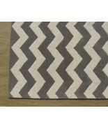 Chevron Zig Zag Gray 8' x 10' Handmade Persian ... - $381.65