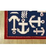 Brand New Kids Anchor Rug Blue 5' x 8' Handmade... - $211.65