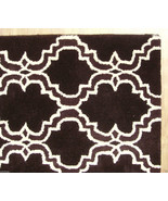 FRENCH ACCENT SCROLL TILE BROWN 5' x 8' HANDMAD... - $211.65