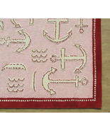 Brand New Kids Anchor Rug Pink 5' x 8' Handmade... - $211.65