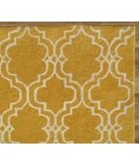 SCROLL TILE LEMON YELLOW 5' x 8' HANDMADE  PERS... - $211.65
