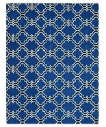 Brand New Scroll Tile Indigo 5x8 Persian Style ... - $299.00