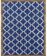 MODERN TRELLIS BLUE 4' x 6' CONTEMPORARY STYLE ... - $169.15