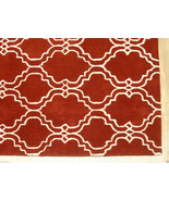 FRENCH ACCENT SCROLL TILE RUST 4' x 6' HANDMADE... - $169.15