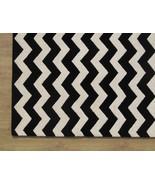 Chevron Zig Zag Black 4' x 6' Handmade Persian ... - $169.15