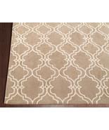 Brand New Scroll Tile Mocha 3' x 5' Handmade Pe... - $135.15
