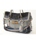 $1600 Coach Kristin Chevron Haircalf Leather La... - $1,298.00