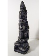 Mayan Pre-Columbian Style Statue, Fish Headdres... - $19.99