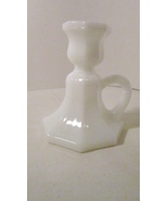 Chamber Candle Holder with handle, White Glass,... - $4.99