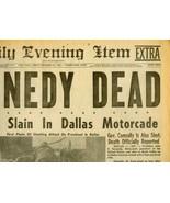 HISTORIC  Issue  PRES. KENNEDY DEAD Lynn, MA No... - $15.00