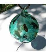 Round Ornament or Kugel by Wren Helwig, Green w... - $18.50
