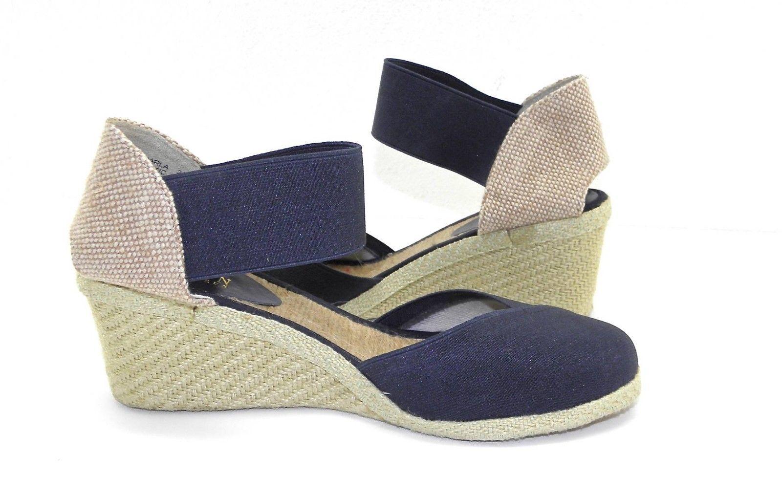 womens ralph lauren charla navy elastic wedges sandals espadrille shoes 8 5 b mixed items lots. Black Bedroom Furniture Sets. Home Design Ideas