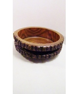 Rustic Wooden Stump Bowl, Natural Bark, Fine Gr... - $4.99