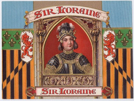 Sir Loraine Embossed Cigar Box label Knight Inn... - $28.45
