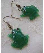 Earrings, Glass Frogs  - $20.00