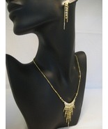 Bridal Austrian Crystal Yellowtone Necklace And... - $22.00
