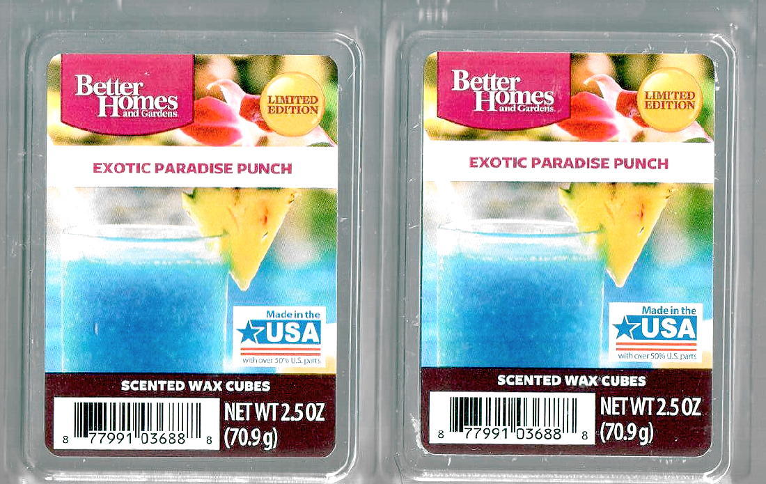 Exotic paradise punch better homes and gardens wax cubes - Better homes and gardens scented wax cubes ...