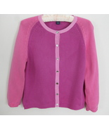 Ann Taylor Pink cardigan sweater S Cotton Color... - $34.99