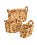 trio of woven Nesting Baskets features braided ... - $24.95
