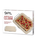 Ceramic Pizza Stone high-temperature base bakes... - $12.99