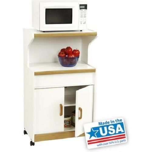 rolling microwave cart kitchen pantry storage cabinet
