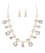 Bridal Wedding Jewelry Crystal Rhinestone Faux ... - $18.60