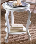 Round Table  scalloping detail  curved legs 20... - $55.69