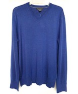 Banana Republic Sweater L V-Neck Blue Extra-Fin... - $55.00