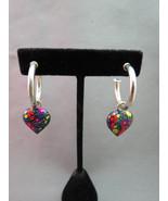 VTG Milor Marked Sterling Silver Heart Earrings... - $24.74