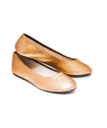 Glitter Champagne Gold Ballet Flat Slipper Cust... - $39.99