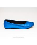 Glitter | Royal Blue Ballet Flat Slipper Custom... - $39.99