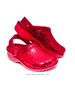 Sequin Red Cayman Slip On Clogs Casual Shoes by... - $74.99