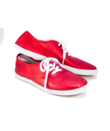 Glitter CVO Canvas Bright Red Sneakers Tennis S... - $39.99