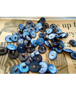 Vintage Mother of Pearl  buttons 10 NOS metal s... - $15.00
