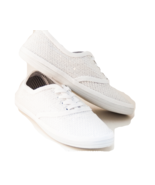 Sequin CVO Pure Bridal White Canvas Sneakers Shoes - $39.99