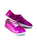 Sequin CVO Hot Fuchsia Pink Sneakers Canvas Ten... - $39.99