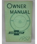 1952 Chevrolet Manual Handbook ORIGINAL Vintage... - $12.95