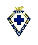 EKG Technician Lapel Pin Blue Cross Lamp of Kno... - $12.57