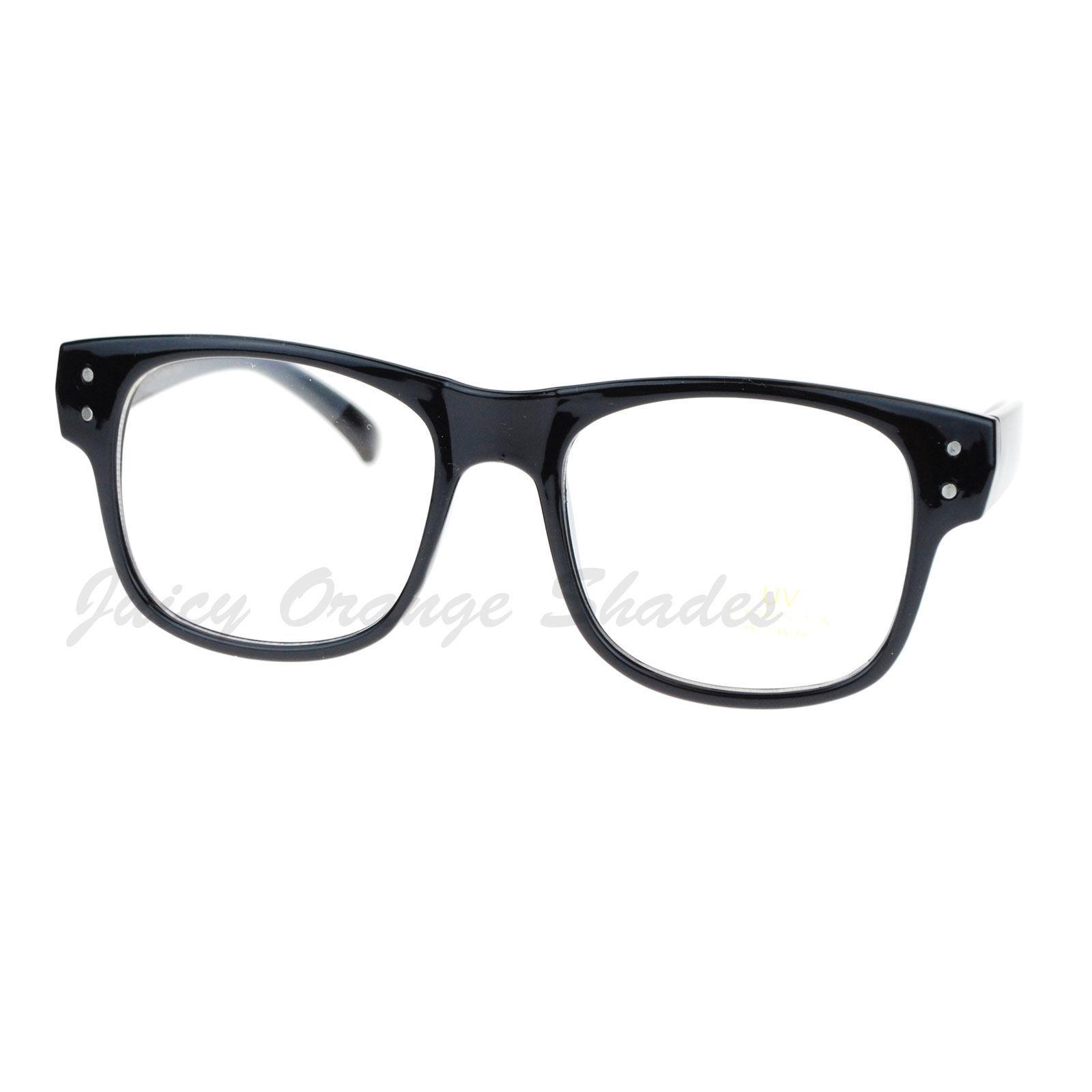 Square Frame Clear Lens Eyeglasses Nerdy Fashion Glasses ...